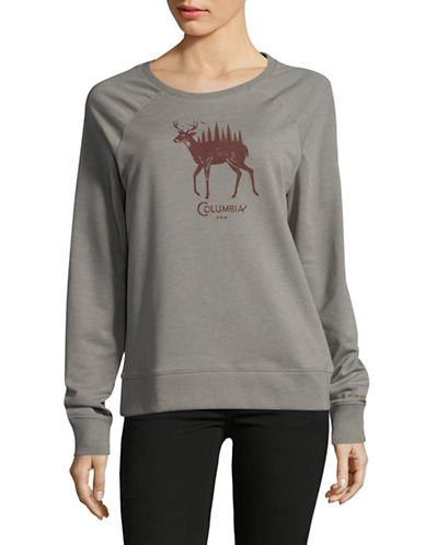 Columbia Deschutes River Cotton Sweatshirt-GREY-Small
