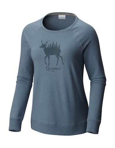 Columbia Deschutes River Cotton Sweatshirt-BLUE-Large