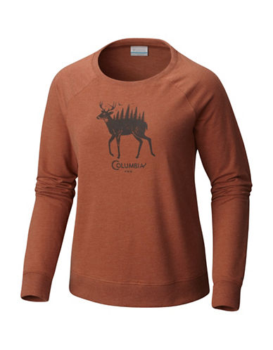 Columbia Deschutes River Cotton Sweatshirt-BROWN-Small