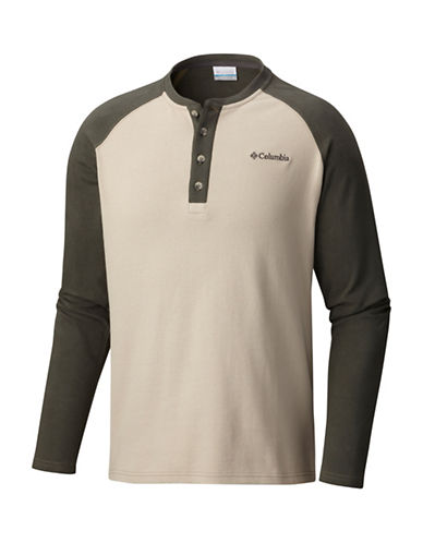 Columbia Ward River Cotton Henley-WHITE-X-Large