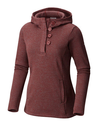 Columbia Darling Days Fleece Pullover Hoodie-BLOODSTONE-Small