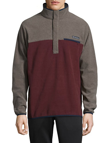 Columbia Quarter-Snap Colourblock Pullover-PURPLE-X-Large