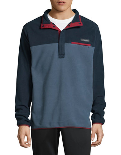 Columbia Quarter-Snap Colourblock Pullover-BLUE-Medium