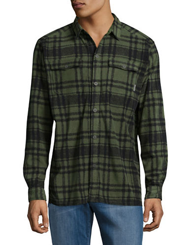 Columbia Forest Park Printed Sport Shirt-GREEN-Small