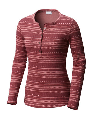 Columbia Hood Mountain Lodge Henley-RED-Medium