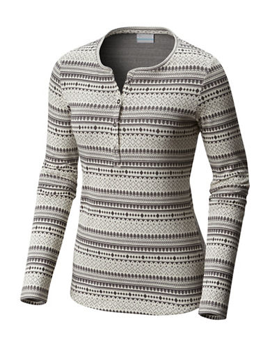 Columbia Hood Mountain Lodge Henley-WHITE-X-Small