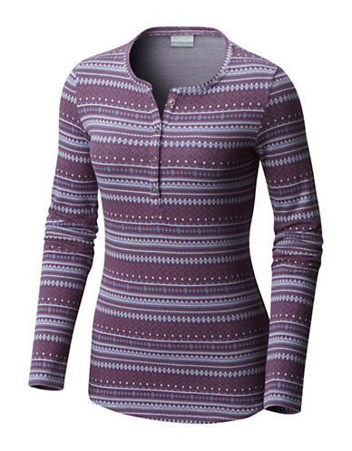 Columbia Hood Mountain Lodge Henley-PURPLE-Medium