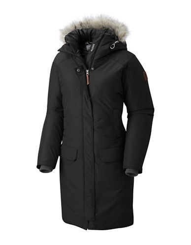 Columbia Alpine Escape 550TD Faux Fur Trimmed Parka-BLACK-X-Large