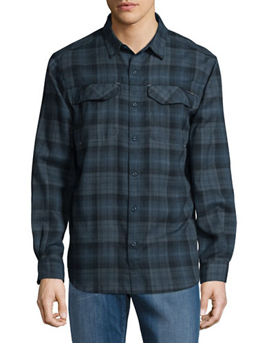 Columbia Silver Ridge Flannel Sport Shirt-BLUE-X-Large