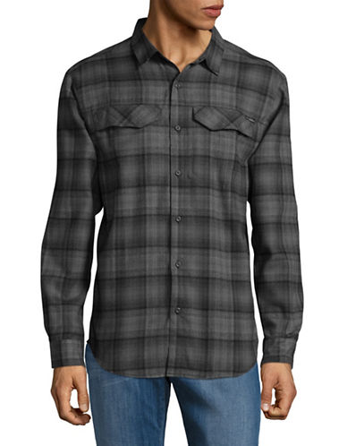 Columbia Silver Ridge Flannel Sport Shirt-BLACK-XX-Large