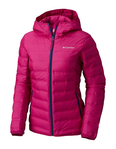 Columbia Lake 22 Hooded Down Jacket-DEEP BLUSH-Small