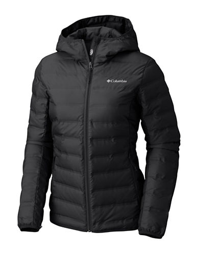 Columbia Lake 22 Hooded Down Jacket-BLACK-Medium