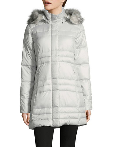 Columbia Mercury Maven IV Mid Down Jacket with Faux Fur Trim-WHITE-Medium