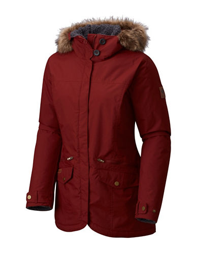 Columbia Grandeur Peak Mid Jacket-DEEP RUST-X-Small