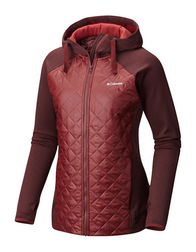 Columbia Northern Comfort Hybrid Jacket-RED-Small