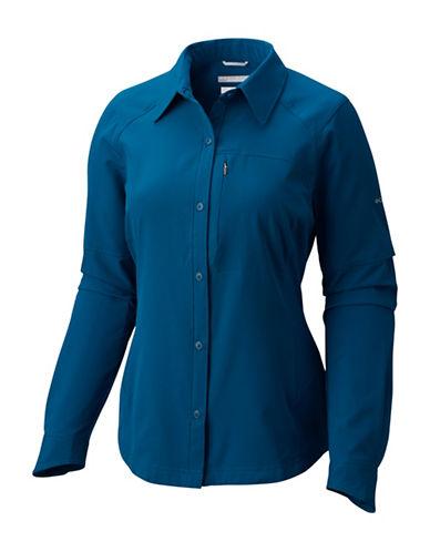 Columbia Plus Silver Ridge Button-Up Shirt-BLUE-1X