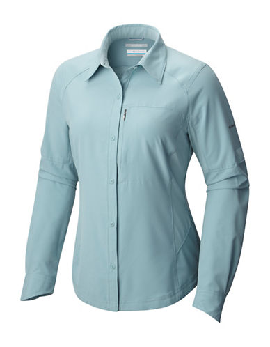 Columbia Silver Ridge Long-Sleeve Shirt-STONE BLUE-Small