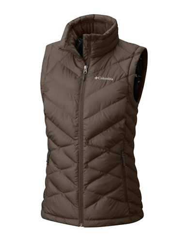 Columbia Heavenly Insulated Vest-BROWN-1X