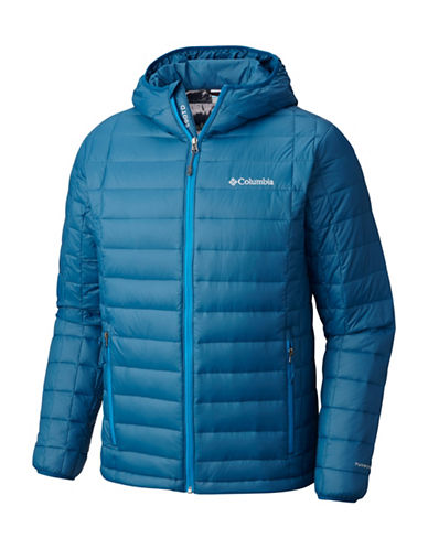 Columbia Voodoo Falls 590 TurboDown Hooded Jacket-BLUE-Large