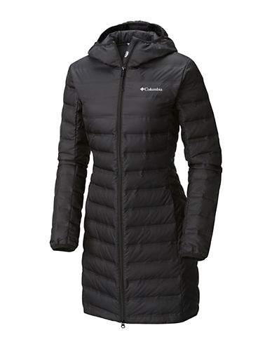 Columbia Lake 22 Long Hooded Jacket-BLACK-X-Large