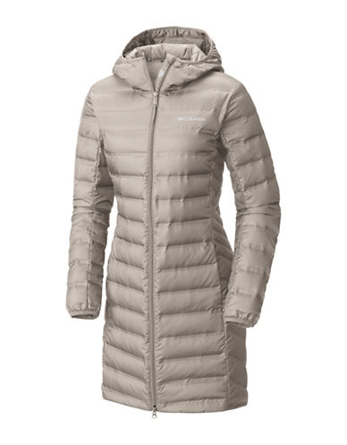 Columbia Lake 22 Long Hooded Jacket-GREY-Small