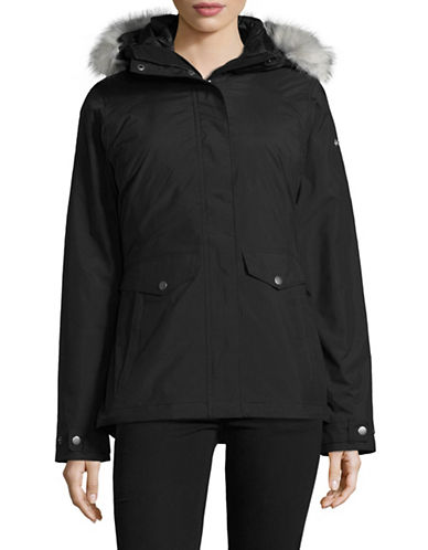 Columbia Whispering Oaks Turbodown Hooded Coat and Puffer Jacket-BLACK-X-Large
