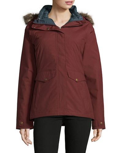 Columbia Whispering Oaks Turbodown Hooded Coat and Puffer Jacket-DEEP RUST-Large