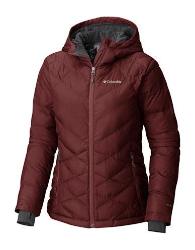 Columbia Heavenly Hooded Jacket-DEEP RUST-Large