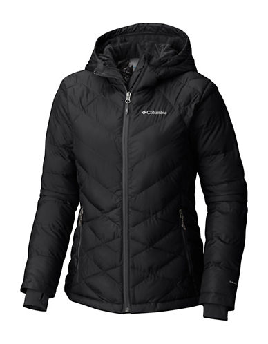 Columbia Heavenly Hooded Jacket-BLACK-Large