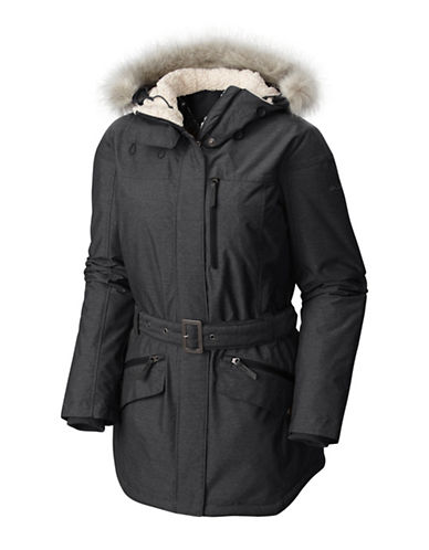 Columbia Carson Pass II Faux Fur Trimmed Jacket-BLACK-X-Large