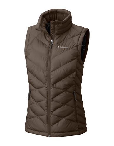 Columbia Heavenly Vest-BROWN-Small