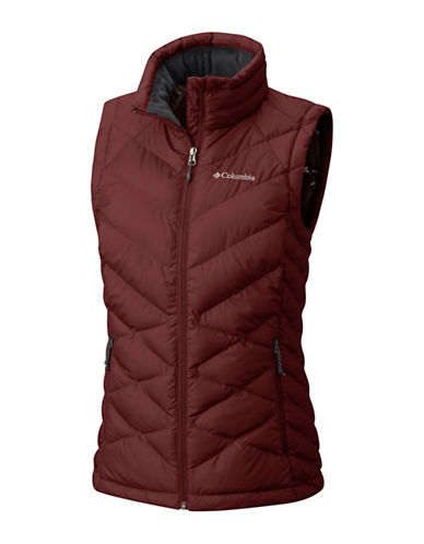 Columbia Heavenly Vest-DEEP RUST-Small