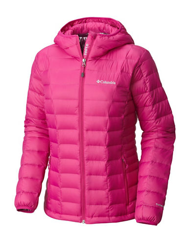 Columbia Voodoo Falls 590 TurboDown Jacket-DEEP BLUSH-Large