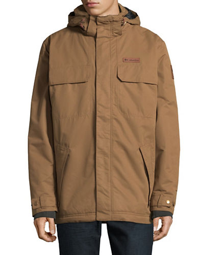 Columbia Double Layer Jacket-BROWN-Large