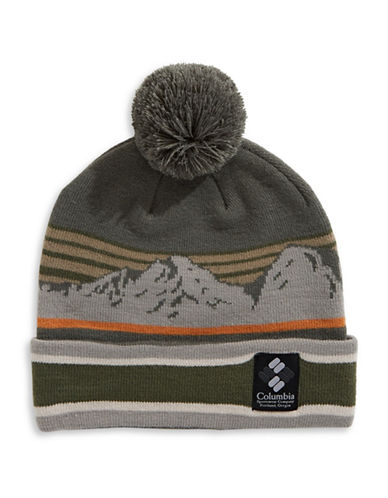 Columbia Mountain Pom-Pom Beanie-BLUE-One Size