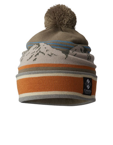Columbia Deschutes River Pom-Pom Beanie-GREEN-One Size