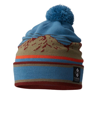 Columbia Deschutes River Pom-Pom Beanie-BLUE-One Size