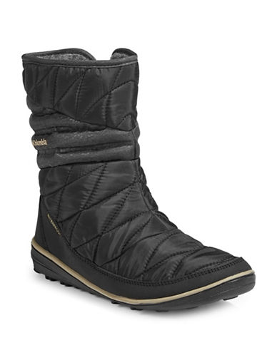 Columbia Womens Heavenly Slip II Omni-Heat Boots-BLACK-8