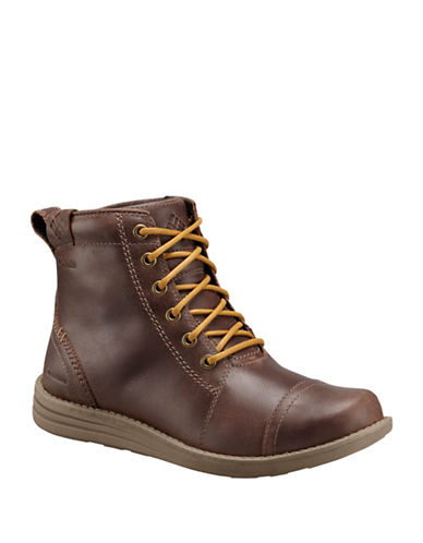 Columbia Irvington Lace-Up Leather Boots-BROWN-8