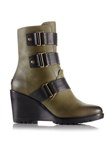 Sorel After Hours Ankle Boots-GREEN-7.5