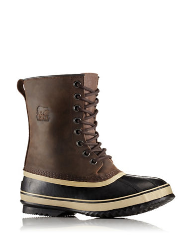 Sorel Waterproof Leather Winter Boots-BROWN-9