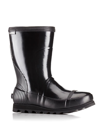 Sorel Joan Short Rain Boots-BLACK-6