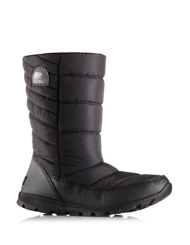 Sorel Whitney Quilted Boots-BLACK-7.5