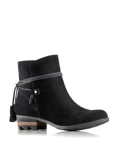 Sorel Farah Suede Ankle Boots-BLACK-10