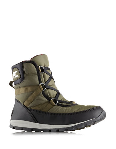 Sorel Whitney Lace-Up Boots-GREEN-9.5