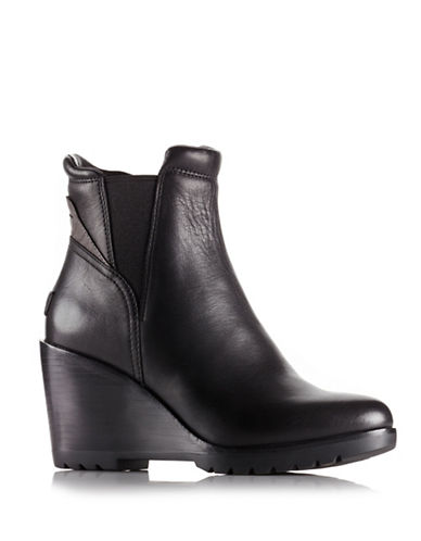 Sorel After Hours Leather Chelsea Boots-BLACK-7.5