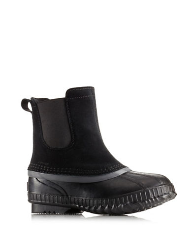 Sorel Cheyanne II Suede Chelsea Boots-BLACK-6