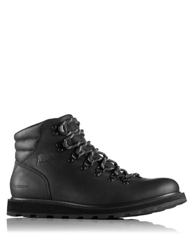 Sorel Madson Lace-Up Leather Hiking Boots-BLACK-8