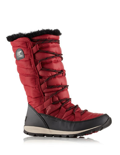 Sorel Lace-Up Waterproof Boots-RED-12