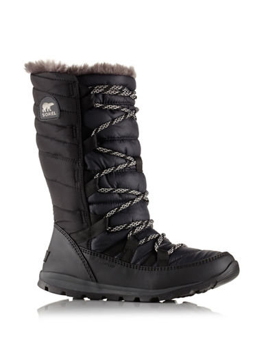 Sorel Lace-Up Waterproof Boots-BLACK-12